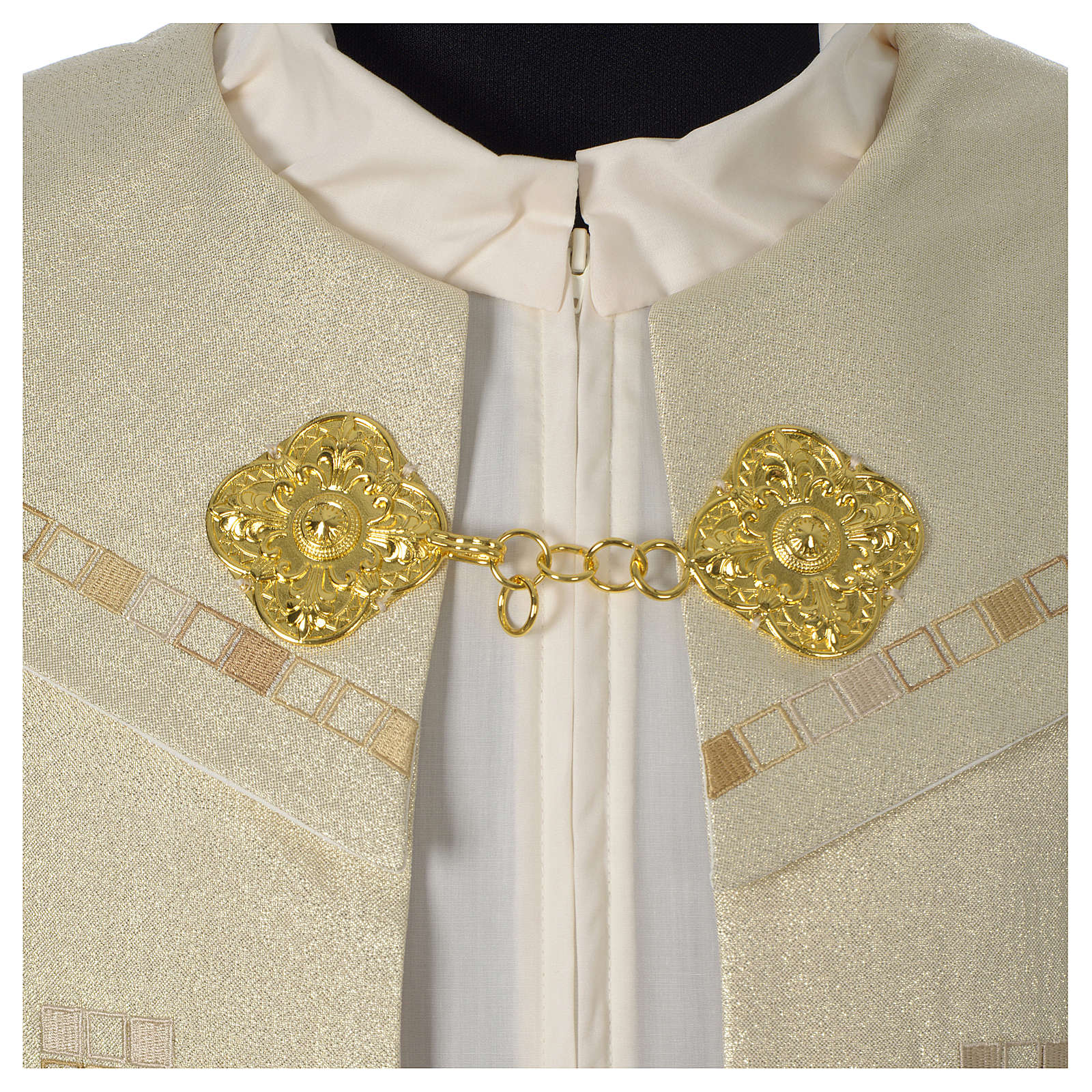 Cope with golden Cross decoration, ivory 4