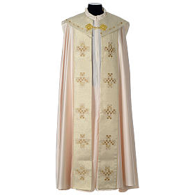 Cope with golden Cross decoration, ivory s1