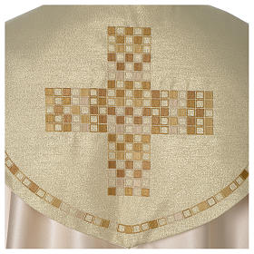 Cope with golden Cross decoration, ivory s2
