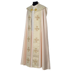Cope with golden Cross decoration, ivory s3