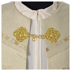 Cope with golden Cross decoration, ivory s5