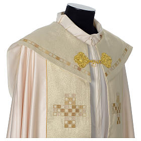 Cope with golden Cross decoration, ivory s7