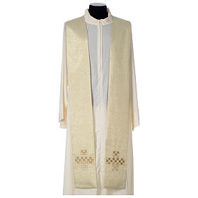 Cope with golden Cross decoration, ivory s8