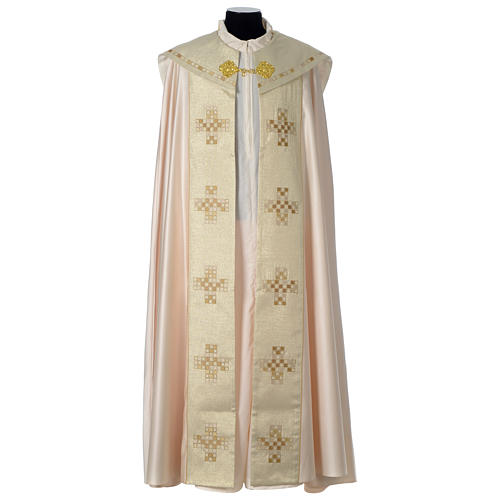 Cope with golden Cross decoration, ivory 1