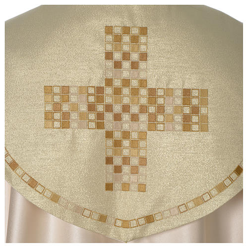 Cope with golden Cross decoration, ivory 2