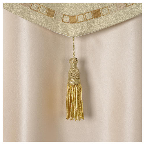 Cope with golden Cross decoration, ivory 6