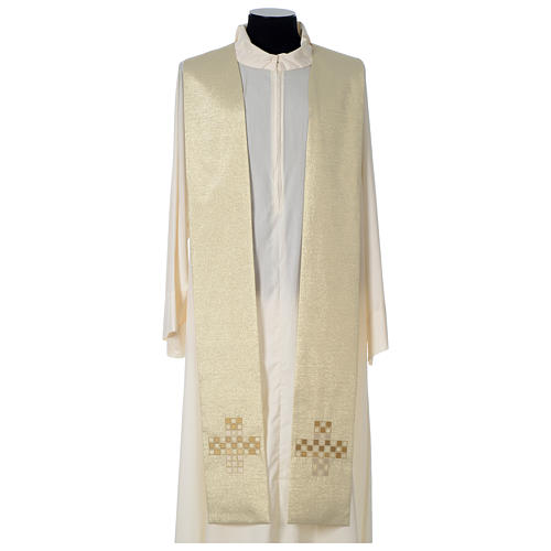 Cope with golden Cross decoration, ivory 8