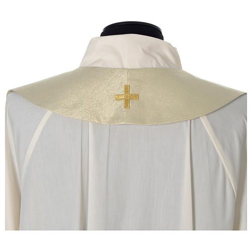 Cope with golden Cross decoration, ivory 9