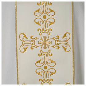 Dalmatica avorio stolone ricamato oro s2