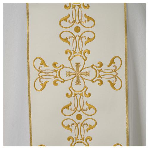 Dalmatica avorio stolone ricamato oro 2