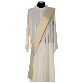 Gold deacon dalmatic with modern cross s6