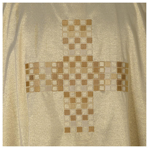 Gold deacon dalmatic with modern cross 2