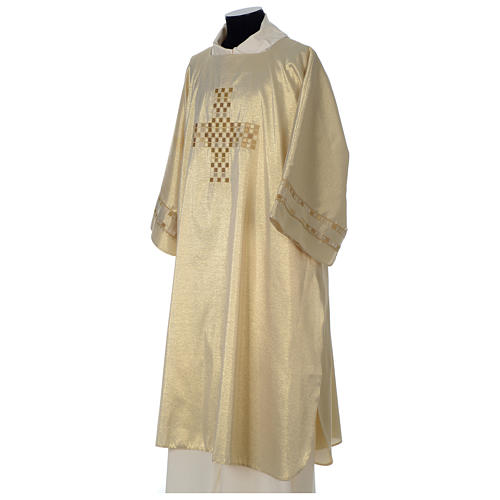 Gold deacon dalmatic with modern cross 3