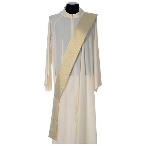Gold deacon dalmatic with modern cross 6