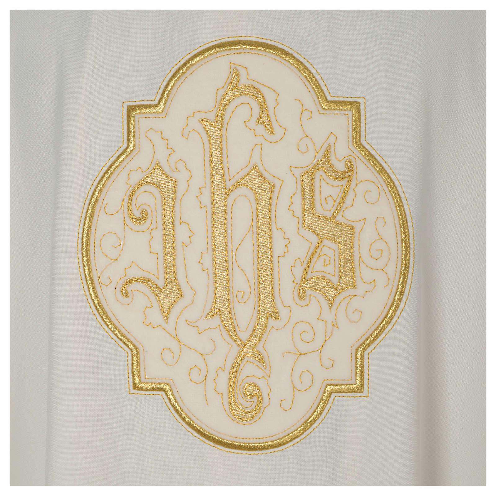 Dalmatica avorio IHS velluto oro 4