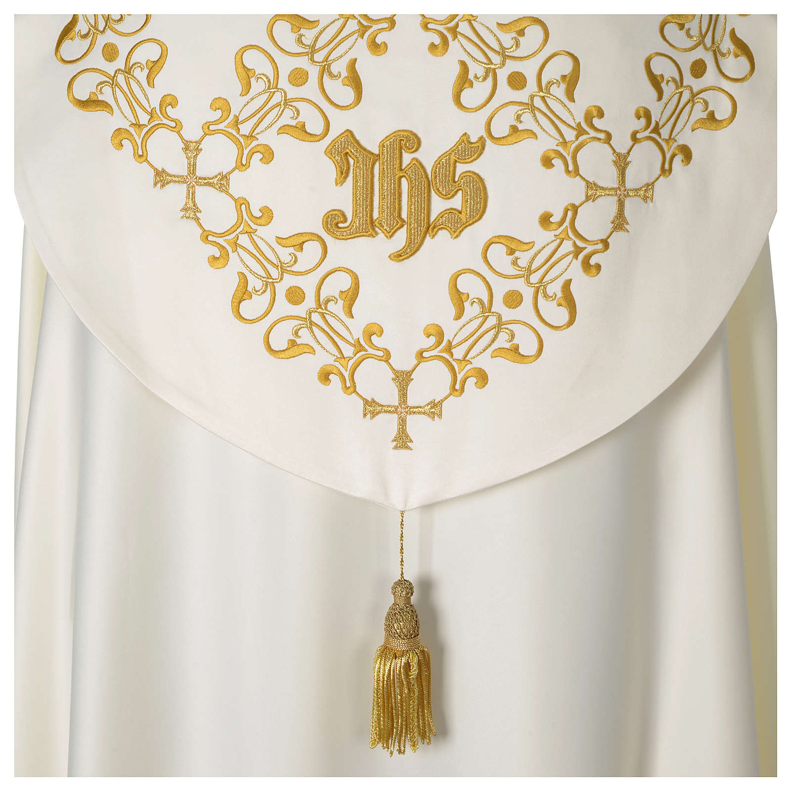 Cope with IHS gold embroidered on hood 4