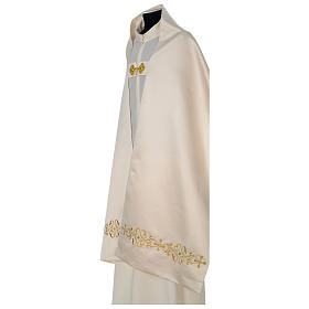 Humeral veil with golden decoration, ivory s3