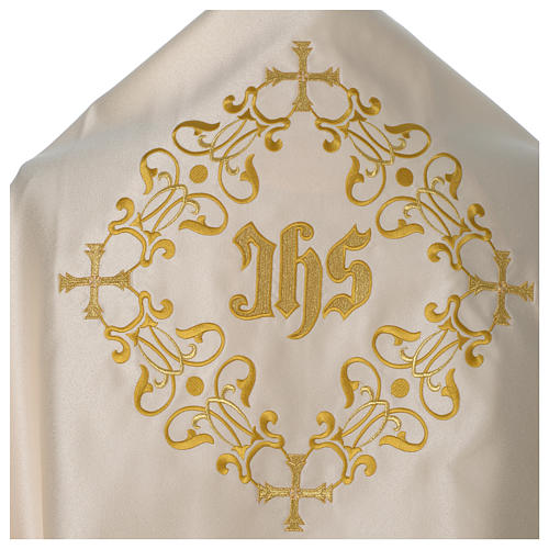 Humeral veil with golden decoration, ivory 2