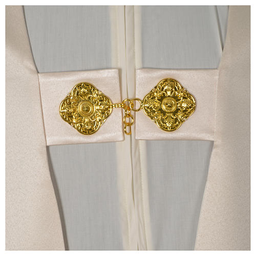 Humeral veil with golden decoration, ivory 6