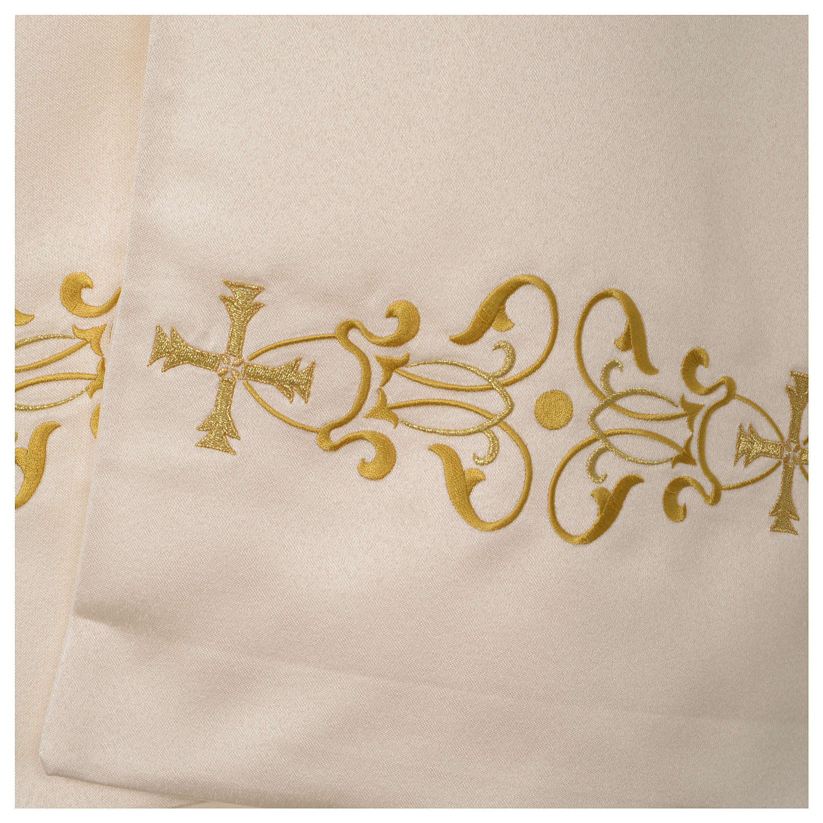 Voile huméral ivoire motifs dorés 4