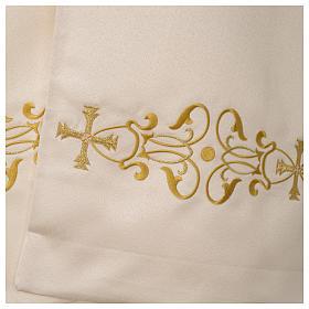 Voile huméral ivoire motifs dorés s4
