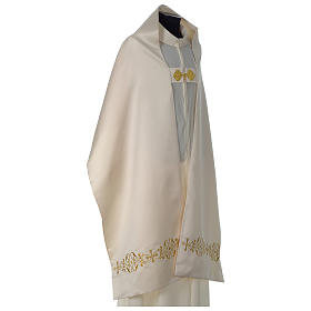Humeral veil with gold embroidered decoration s5