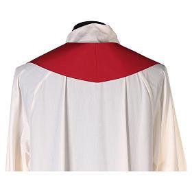 Chape 100% polyester brodée machine croix et riches motifs décoratifs s10