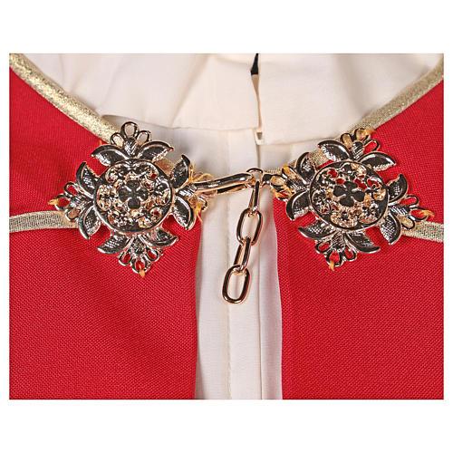Chape 100% polyester brodée machine croix et riches motifs décoratifs 3