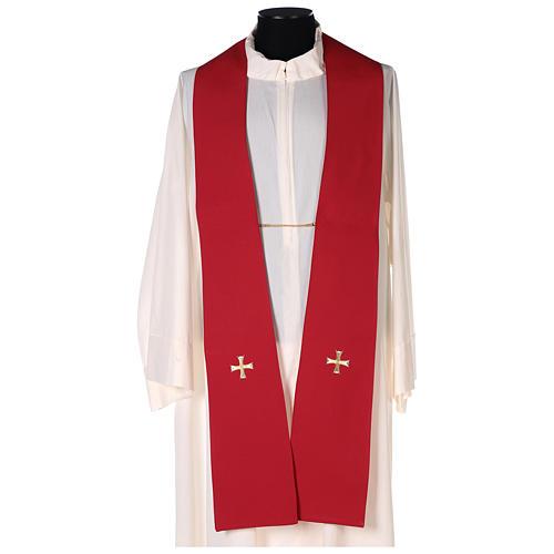 Chape 100% polyester brodée machine croix et riches motifs décoratifs 8