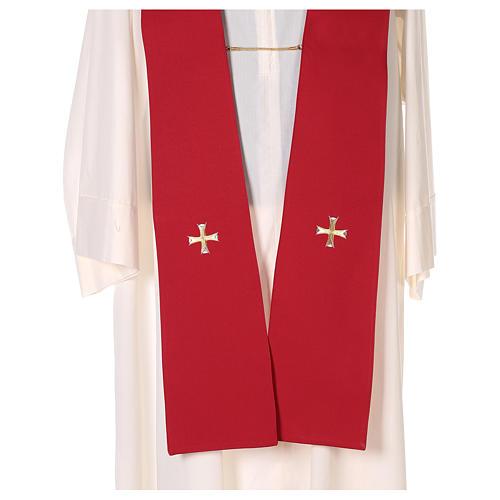 Chape 100% polyester brodée machine croix et riches motifs décoratifs 9