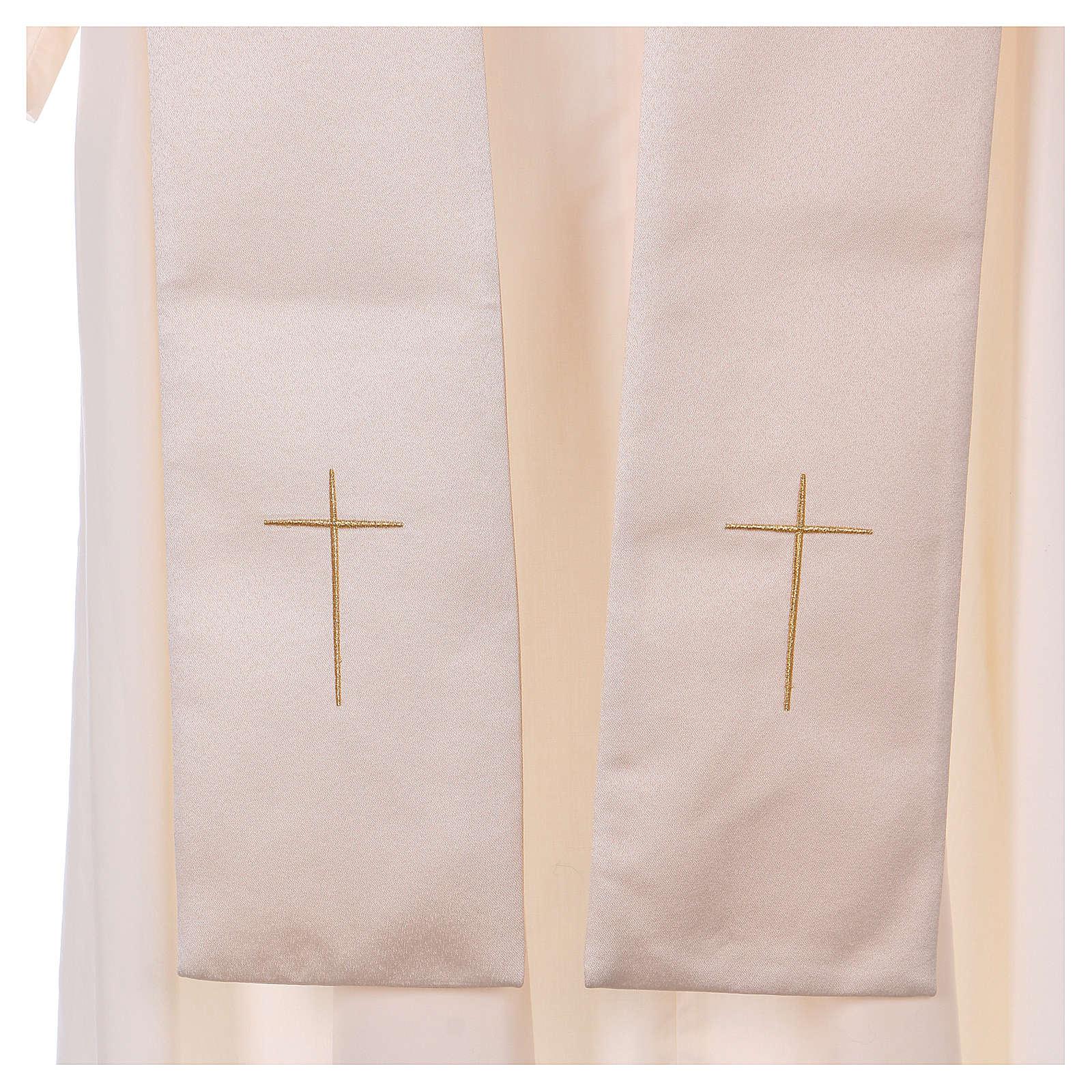 Piviale gancio e decorazioni oro 100% poliestere 4