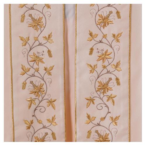 Piviale gancio e decorazioni oro 100% poliestere 3