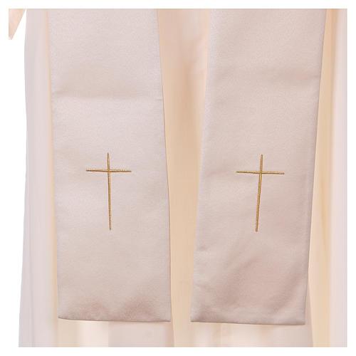 Piviale gancio e decorazioni oro 100% poliestere 8