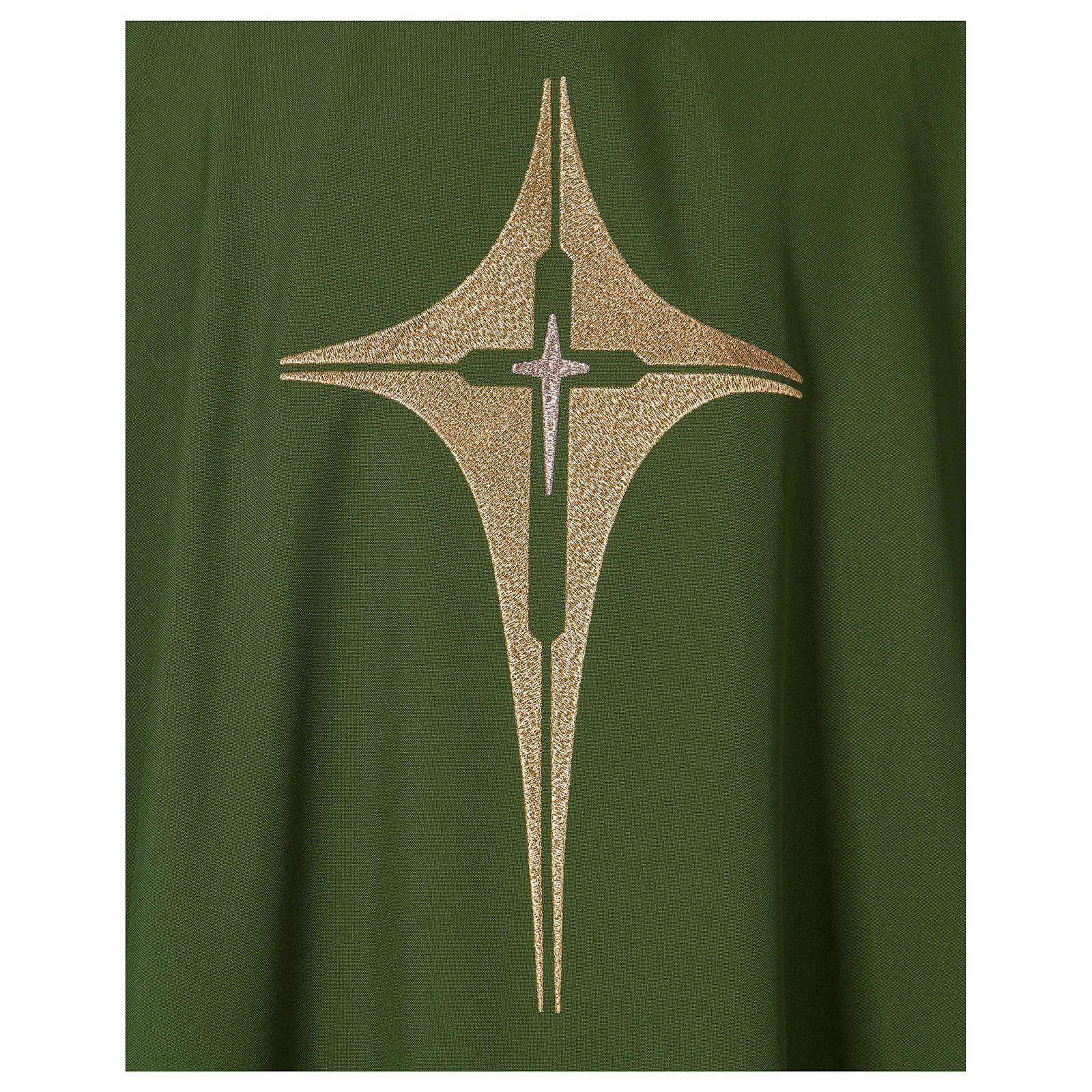 Dalmatique croix et étoile 100% polyester 4