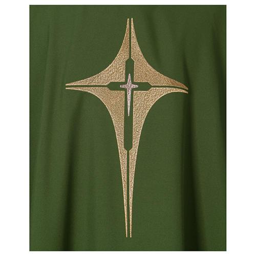 Dalmatique croix et étoile 100% polyester 2