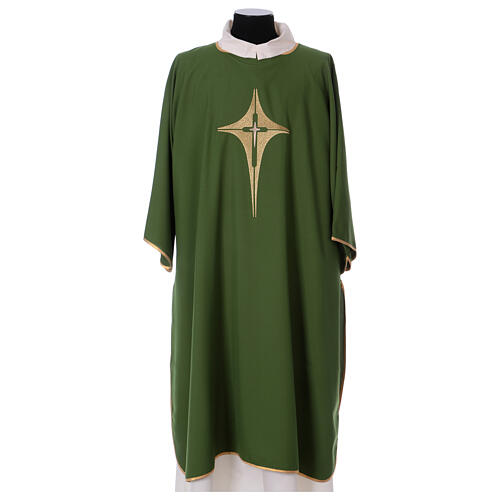 Dalmatic with star cross 100% polyester 1