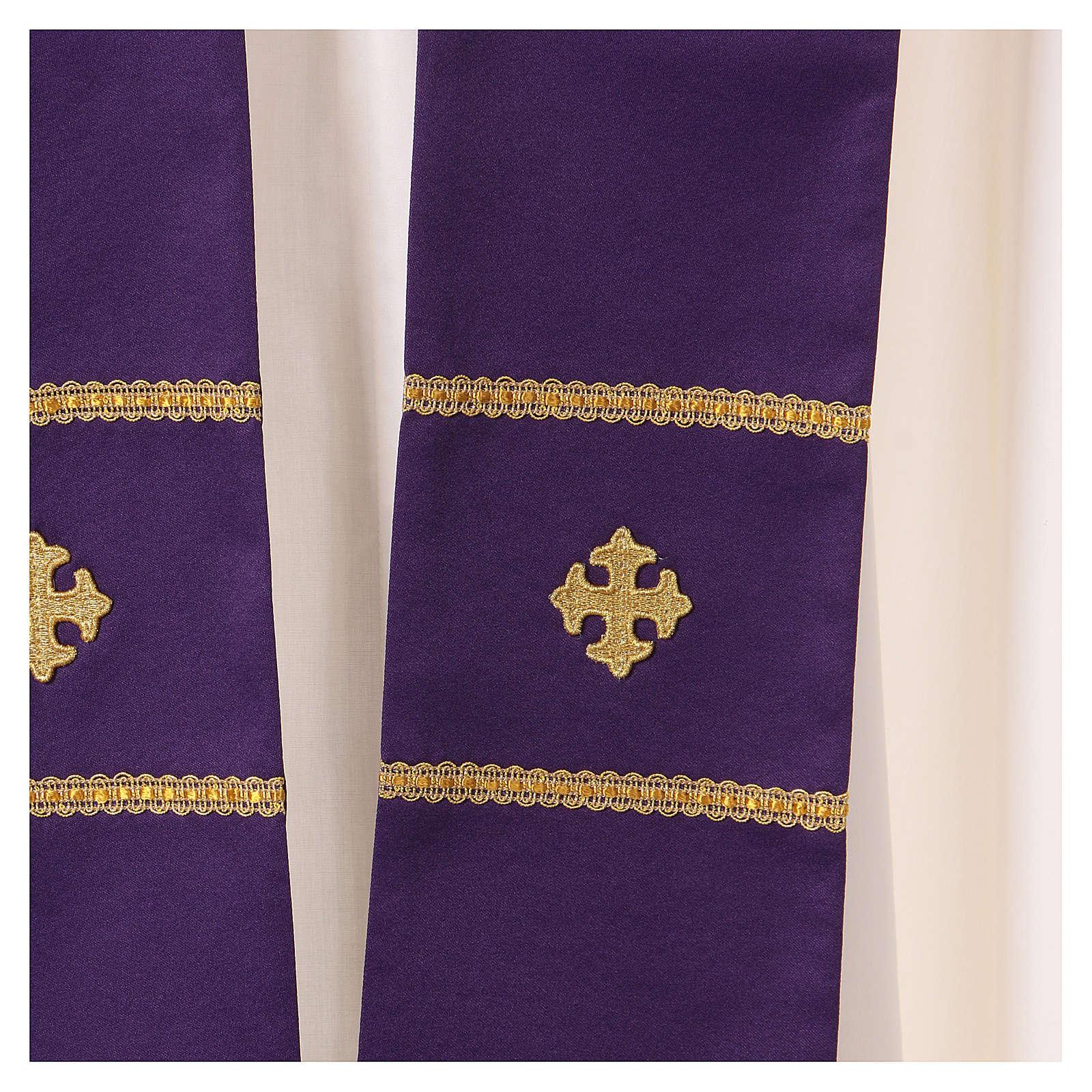 Casula decorazioni ricamate dorate 100% poliestere 4