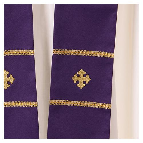 Casula decorazioni ricamate dorate 100% poliestere 6