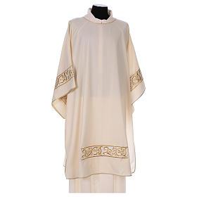 Piviali, pianete liturgiche, dalmatiche: Dalmatica 100% lana gallone ricamo oro