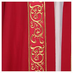 Chape décorations dorées 100% polyester s2