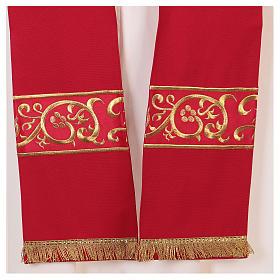 Chape décorations dorées 100% polyester s7
