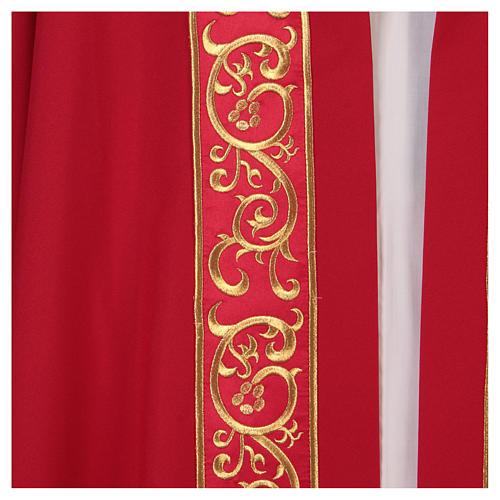 Chape décorations dorées 100% polyester 2
