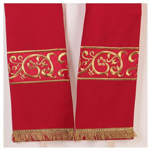 Chape décorations dorées 100% polyester 7