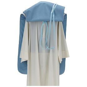 Casulla mariana mixto algodón celeste s7