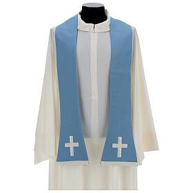 Casulla mariana mixto algodón celeste s8