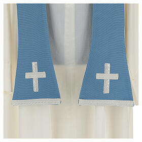 Casulla mariana mixto algodón celeste s9