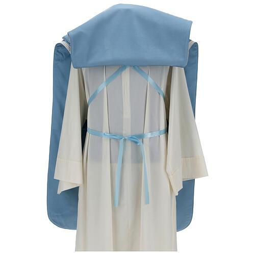 Casulla mariana mixto algodón celeste 6