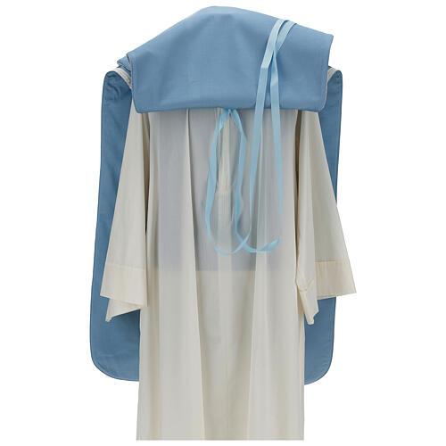 Casulla mariana mixto algodón celeste 7
