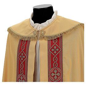 Capa pluvial lamé de poliéster y lana con entorchado aplicado s5