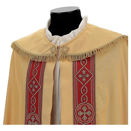 Capa pluvial lamé de poliéster y lana con entorchado aplicado 5